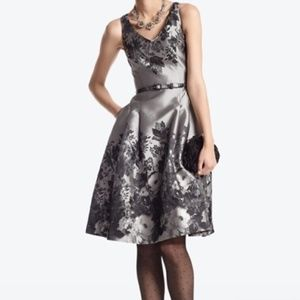 White House Black Market Floral Jacquard Dress